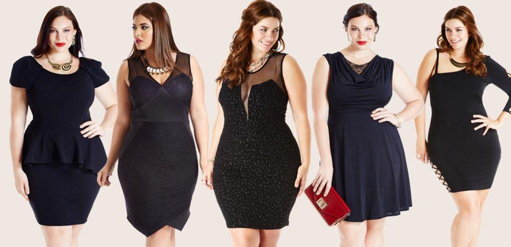 Платье-костюм для полных девушек