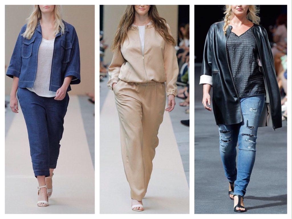 Образ с брюками для полных девушек