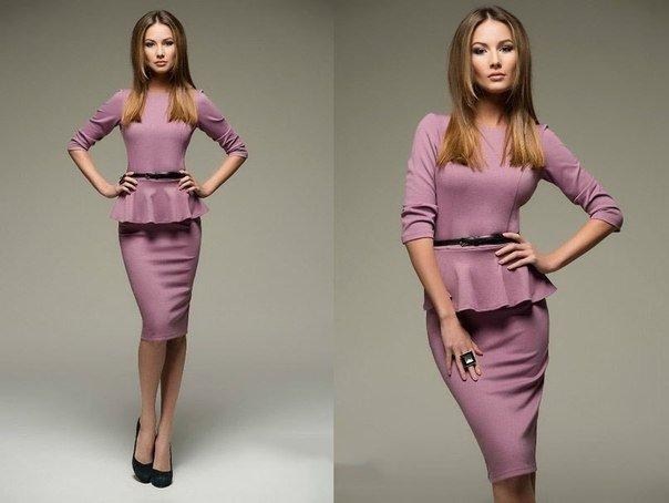 Платье: рукав три четверти