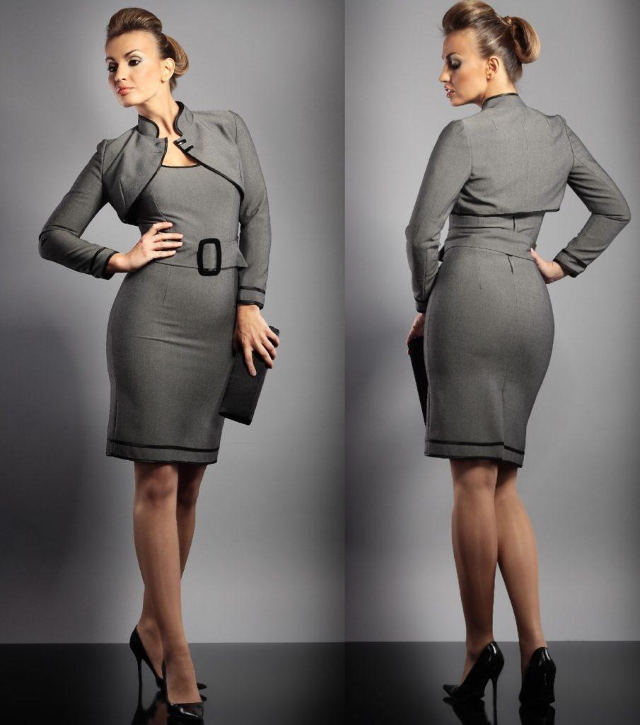 Деловое платье с накидкой-болеро