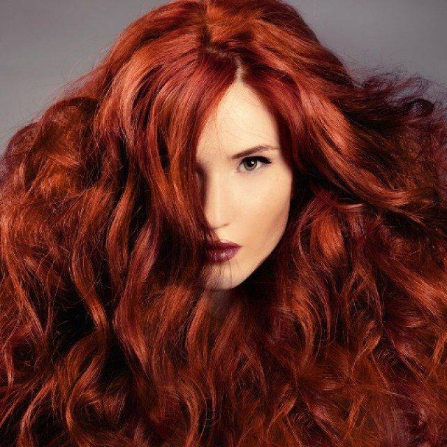 Вариация рыжего цвета волос