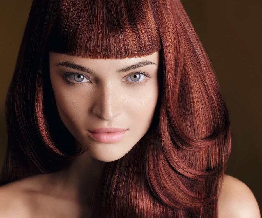 Шоколадный цвет волос с оттенком рыжего