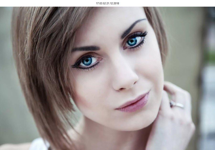 Красивые зелёные глаза