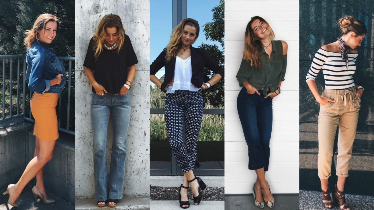 Модные образы в стиле кэжуал для женщин