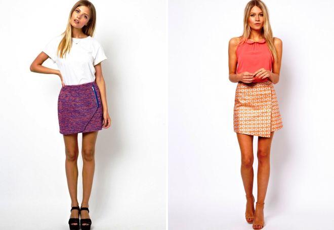 Короткие летние юбки для девушек на летний сезон