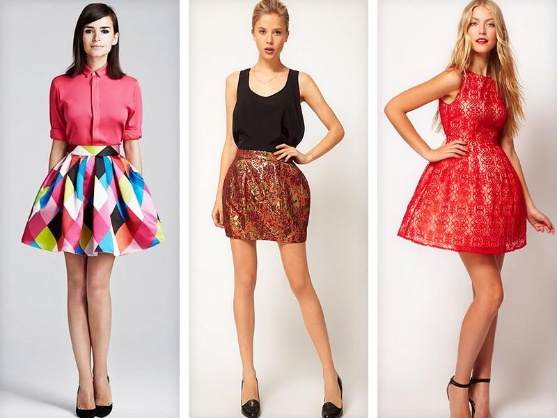 Короткие летние яркие юбки на летний сезон