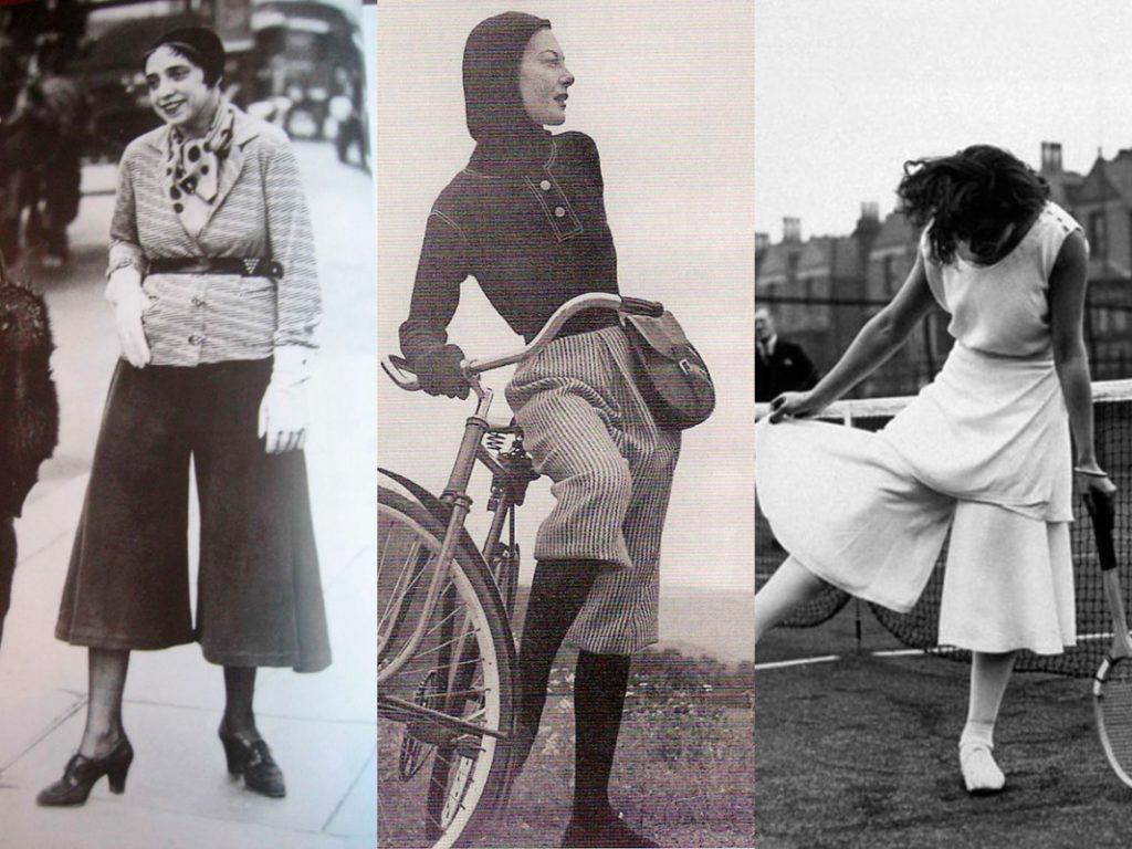 Модные брюки-кюлоты в 20 веке