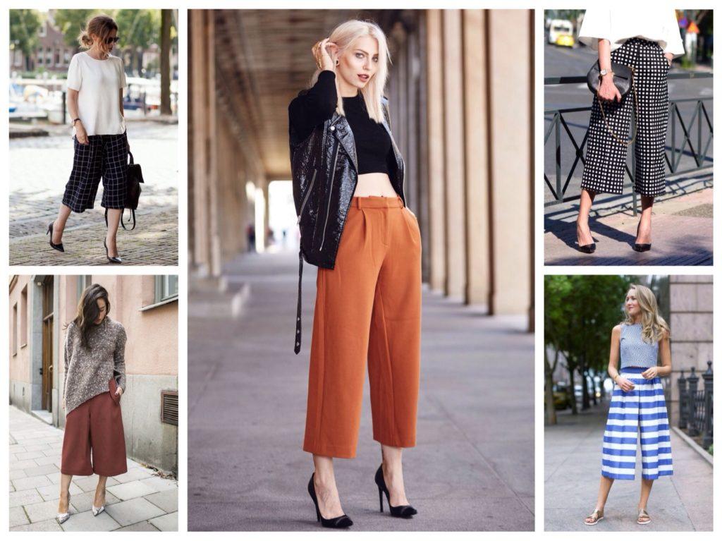 Модные брюки-кюлоты в 2019 году