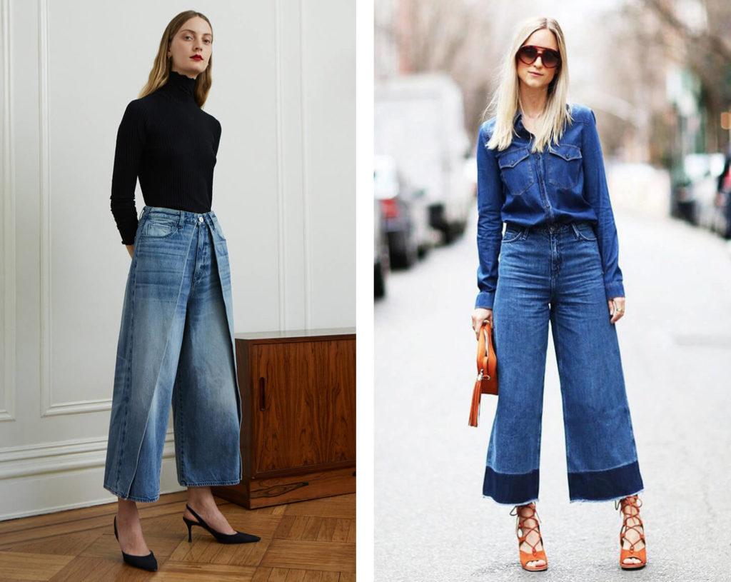 Модные брюки-кюлоты в 2020 году