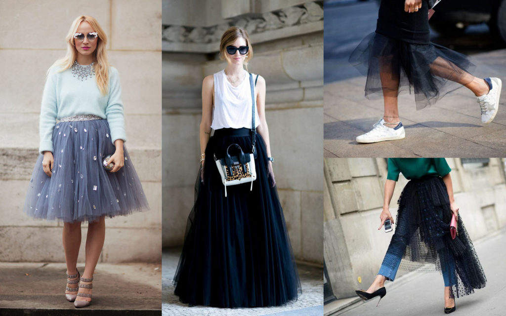 Модные образы с юбкой-пачкой из фатина для девочек и женщин